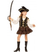 Déguisement de pirate pour fille de 4 à 16 ans, robe avec boléro