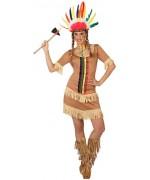 déguisement indien femme, robe indienne sans coiffe - costumes western