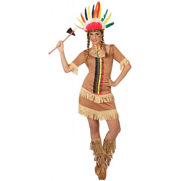 d guisement indienne femme la magie du deguisement achat vente de costumes western. Black Bedroom Furniture Sets. Home Design Ideas