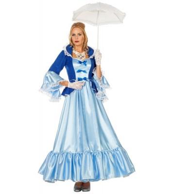 Déguisement marquise bleue luxe femme