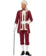 Déguisement marquis bordeaux luxe adulte - costume carnaval, bal masqué