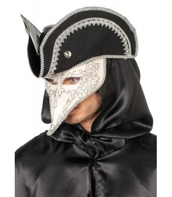 Masque vénitien homme avec chapeau