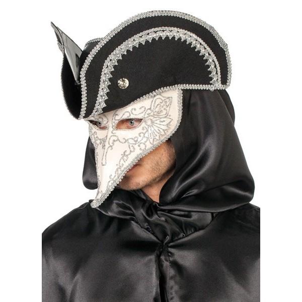 Masque v nitien homme avec chapeau la magie du d guisement costume carnaval de venise - Masque de carnaval de venise a imprimer ...