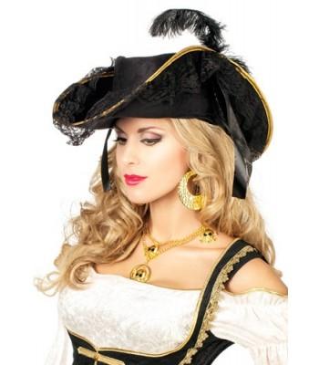 Chapeau pirate luxe femme
