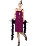 déguisement charleston années 20 avec robe et bandeau - costume cabaret