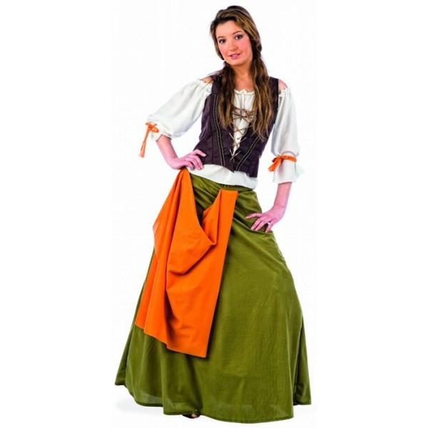 Médiévale La Déguisement Femme Du Magie Tavernière XTuwZiOPk