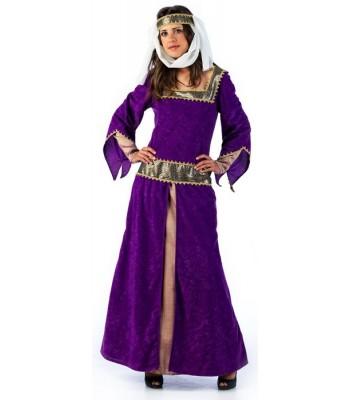 Déguisement dame médiévale luxe