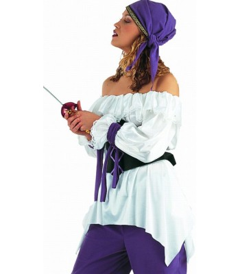 Chemise blanche femme pirate