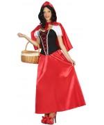 Déguisement de petit chaperon rouge pour adulte avec robe et cape à capuche