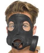 Masque à gaz noir en latex pour adulte