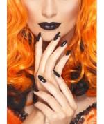 Vernis et rouge à lèvres noirs - maquillage gothique Halloween