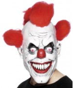 Masque de clown tueur en latex avec cheveux - masques halloween
