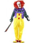 Déguisement de clown maléfique halloween, personnage de film d'horreur