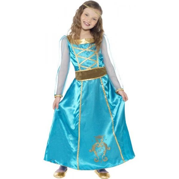 d guisement fille m di vale bleu la magie du deguisement costume princesse du moyen ge. Black Bedroom Furniture Sets. Home Design Ideas