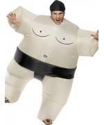 déguisement de sumo gonflable pour adulte avec combinaison et coiffe