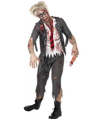 Déguisement zombie écolier homme