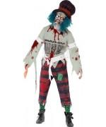 Déguisement chapelier zombie avec masque et chapeau - costume halloween