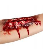 Fausse plaie pour le bras - maquillage zombie halloween et effets speciaux