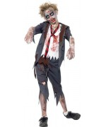Déguisement zombie garçon écolier americain - costume halloween enfant