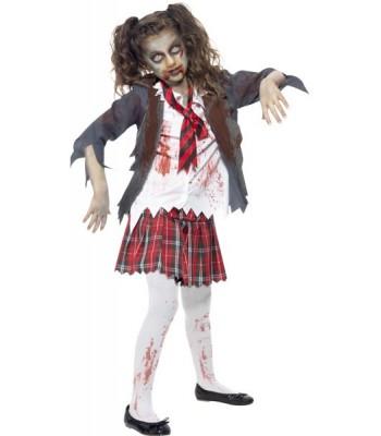 Déguisement zombie fille écolière