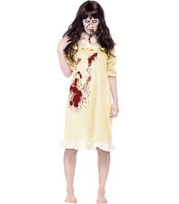 Déguisement exorciste femme zombie
