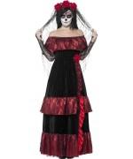 Déguisement squelette femme mexicaine, le jour des morts - costume mexicain halloween
