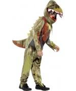 Déguisement de dinosaure halloween pour enfant, combinaison et cagoule