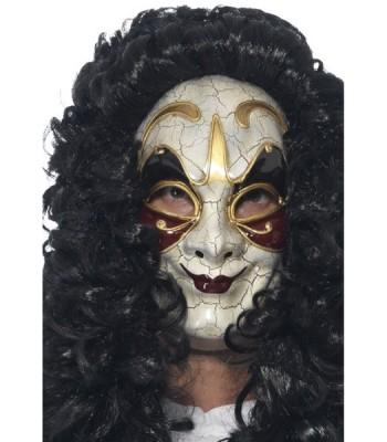 Masque vénitien or et bordeaux adulte
