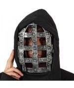 Masque noir halloween avec grille, incarnez un véritable bourreau