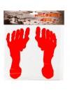 Traces de pieds en sang en matière gélatineuse - Décoration pour halloween