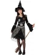 déguisement de sorcière pour fille de 3 à 12 ans avec robe et chapeau - magie et sorcellerie & Halloween