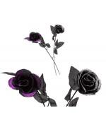 Rose noire à paillettes