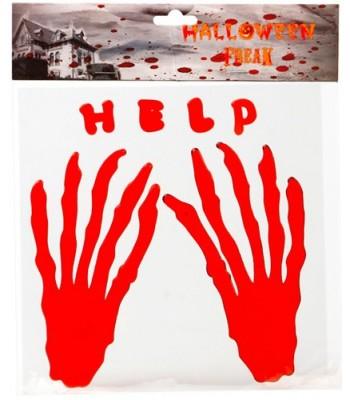 Décoration mains en sang halloween