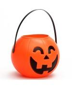Bonbonnière citrouille halloween, un pot à bonbons en forme de citrouille d'environ 14 cm