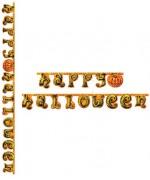 Guirlande citrouille Happy Halloween - article de décoration de salle