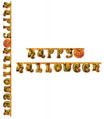 Guirlande citrouille Happy Halloween