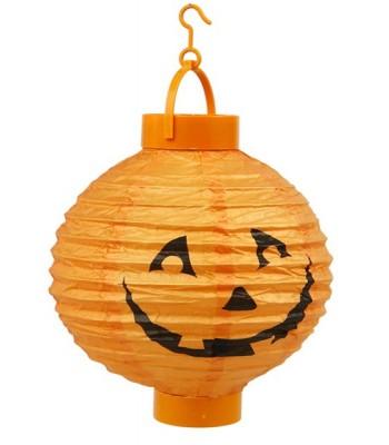 Lanterne à led citrouille halloween