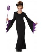 Déguisement maléfique fille reine des  ténèbres halloween, costume enfant 3 à 12 ans
