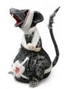 Décoration Halloween, rat zombie avec bandages