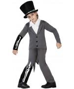 déguisement de zombie pour garçon de 3 à 12 ans, costume de marié halloween pour enfant avec chapeau