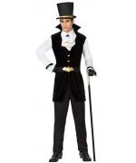Déguisement vampire noir et blanc pour homme - costume halloween adulte