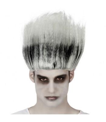 Perruque zombie noire et grise