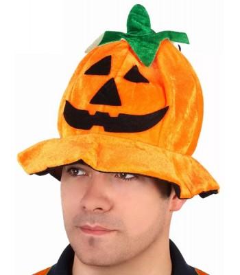Chapeau citrouille halloween adulte