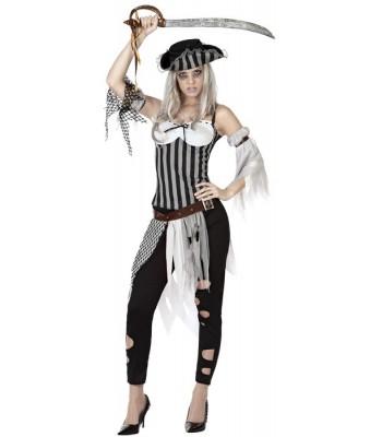 Déguisement pirate zombie femme halloween