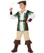 Déguisement garçon de la forêt pour enfant de 3 à 12 ans, le célèbre robin des bois est de retour