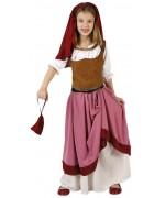 Déguisement d'aubergiste médiévale pour fille, très complet ce costume est idéal pour le carnaval ou une fête médiévale