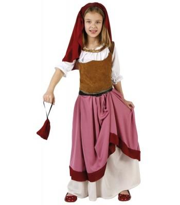 Déguisement aubergiste médiévale fille