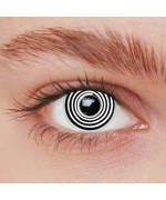 Lentilles spirale noire et blanche - lentilles fantaisie