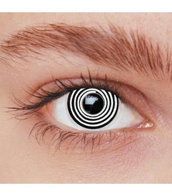 Lentilles spirale noire et blanche
