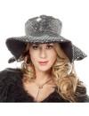 Chapeau bling bling noir et argent